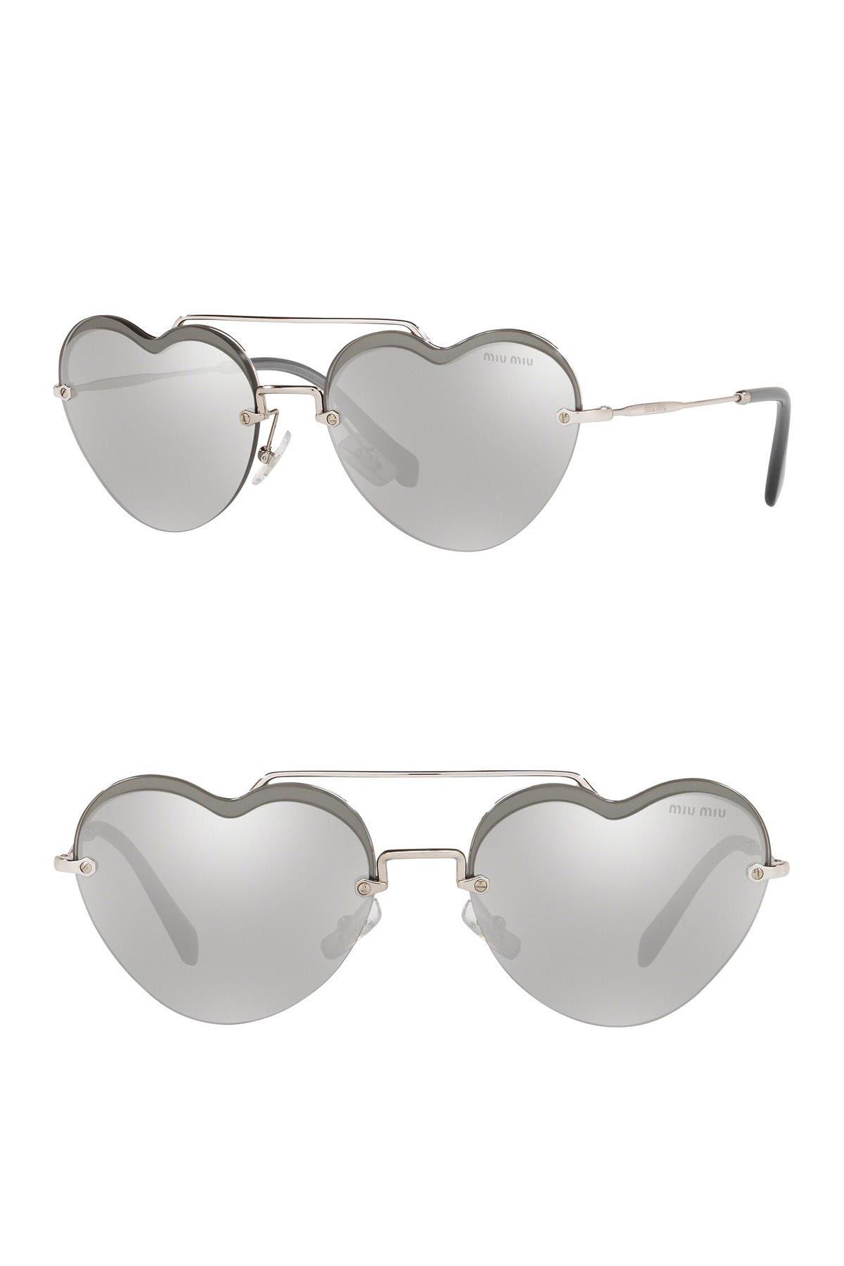 Image of MIU MIU 58mm Irregular Heart Sunglasses