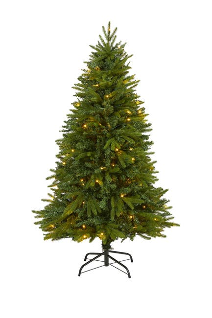 Image of NEARLY NATURAL 5ft. Sun Valley Fir Artificial Christmas Tree