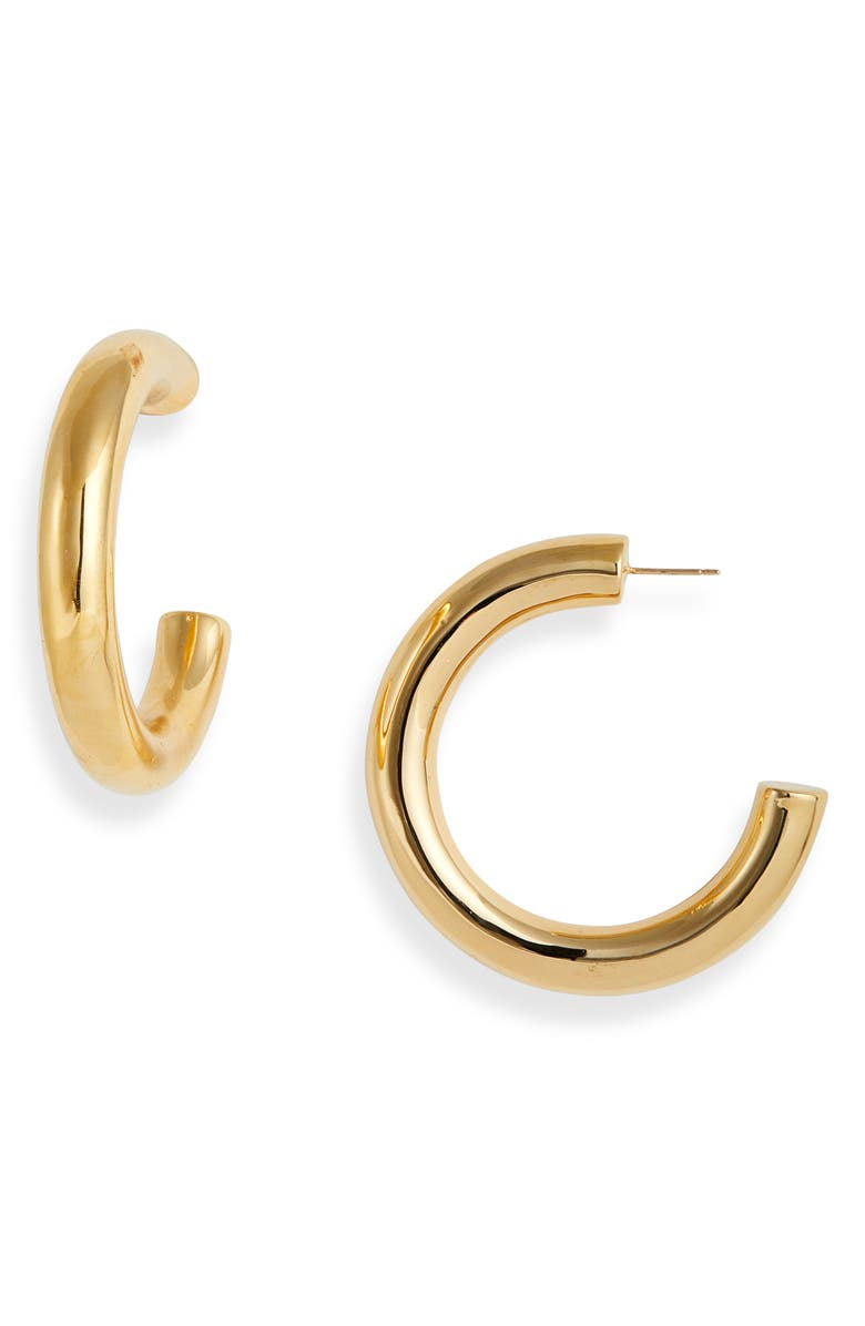 ST. JOHN COLLECTION Hoop Earrings, Main, color, GOLD