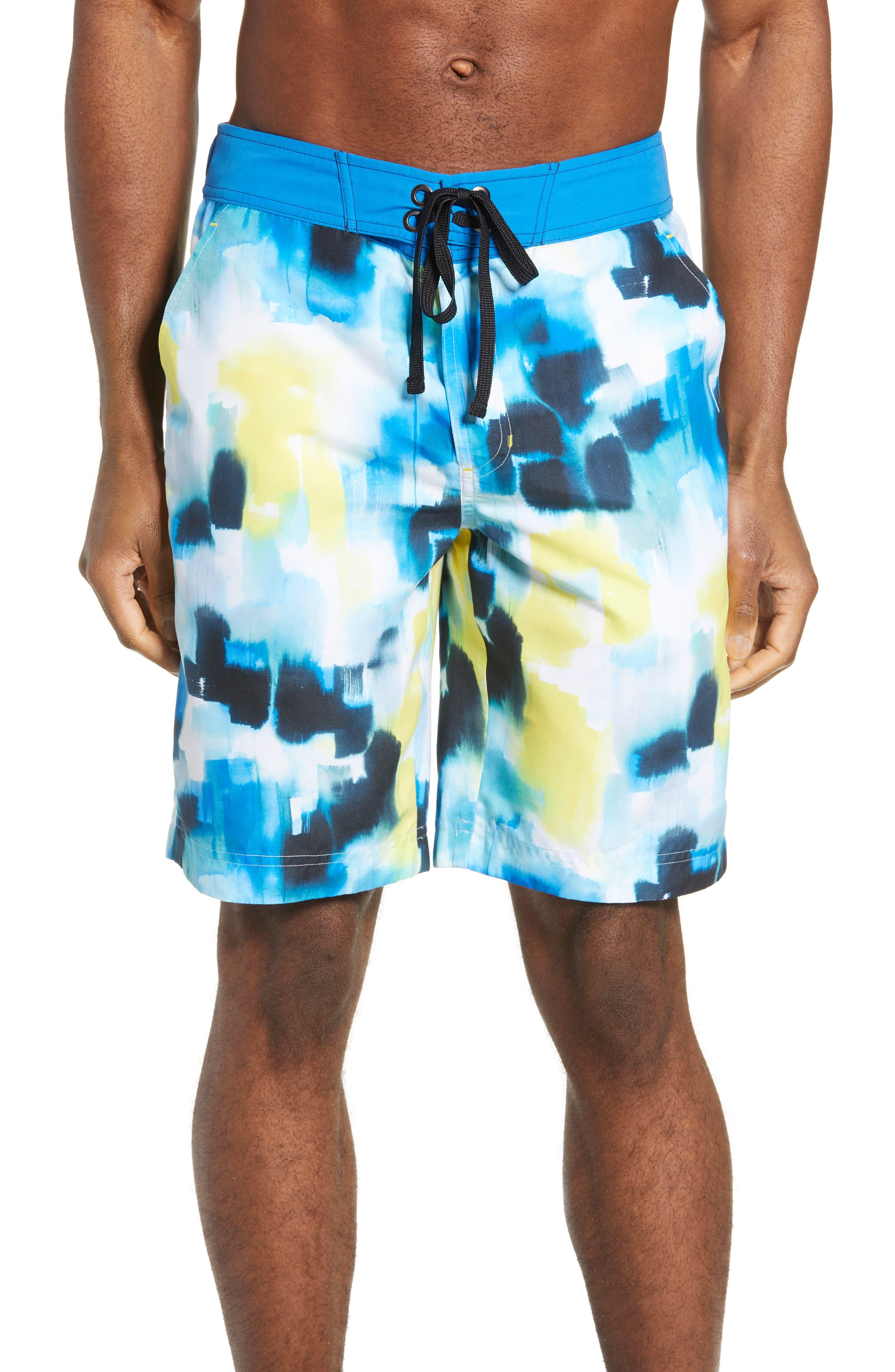Robert Graham Marshlands Board Shorts, Blue