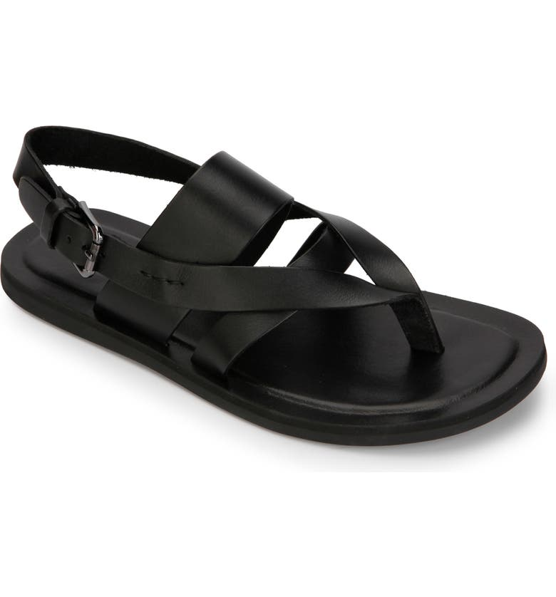 KENNETH COLE NEW YORK Ideal Sandal, Main, color, BLACK LEATHER