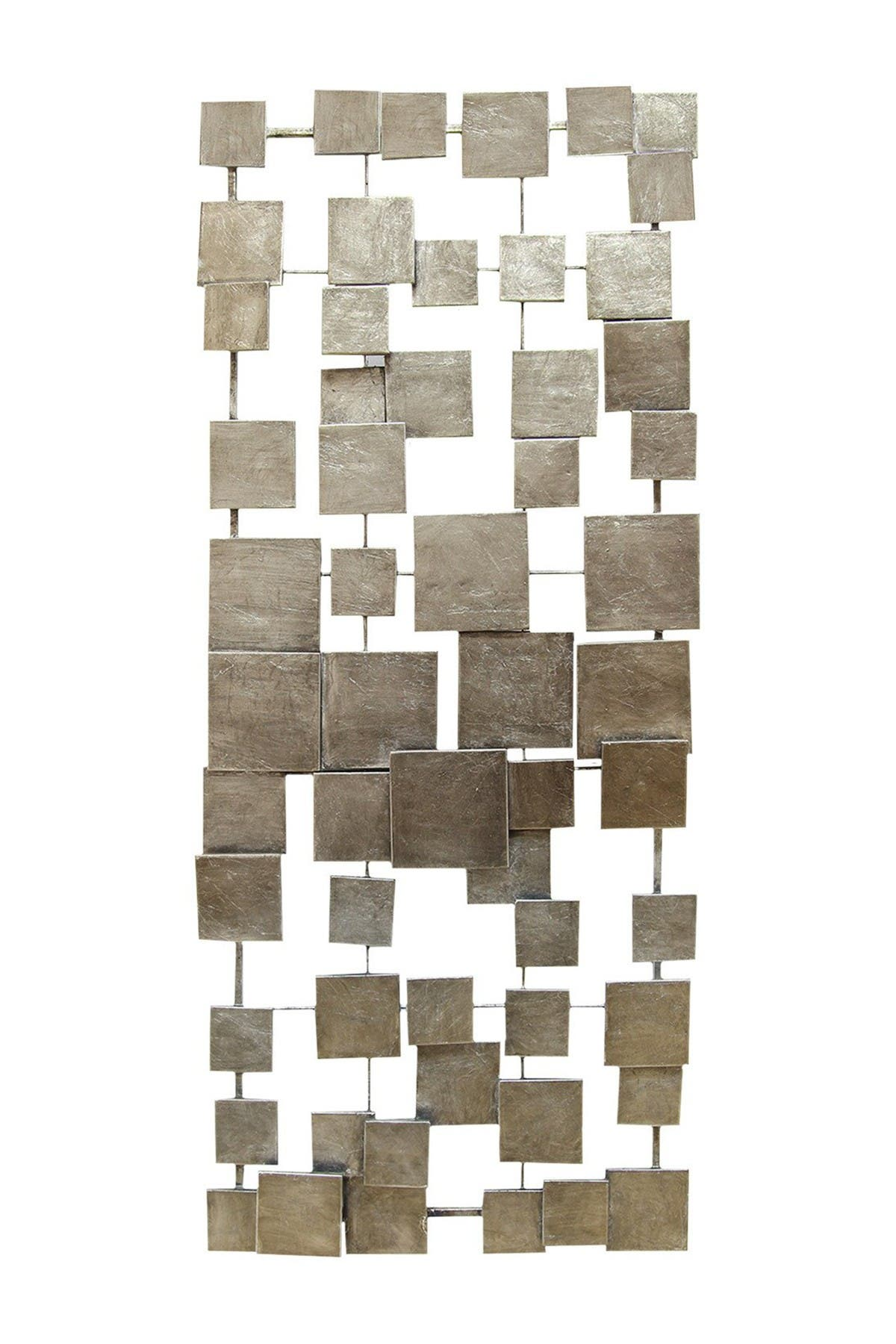 Image of Stratton Home Champagne Geometric Tiles Wall Decor