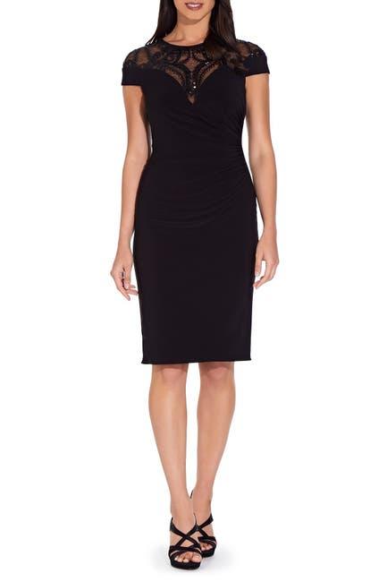 Image of Adrianna Papell Sequin Mesh Yoke Dress