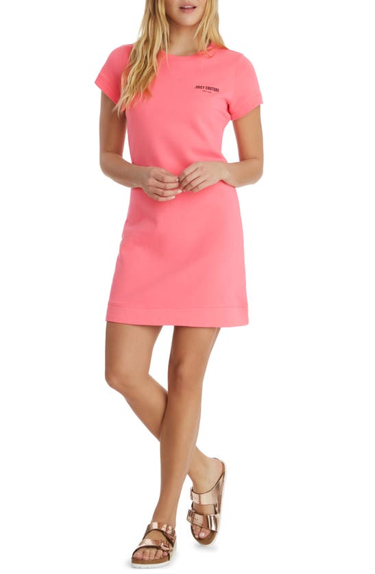 Juicy Couture Cottons COTTON FRENCH TERRY T-SHIRT DRESS
