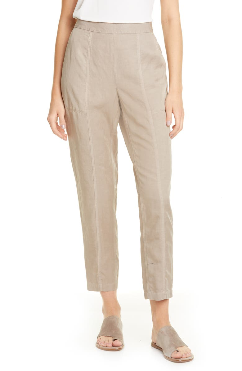 EILEEN FISHER Ankle Pants, Main, color, MOCHA