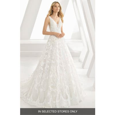 Rosa Clara Denice Illusion V-Neck Lace & Tulle Gown