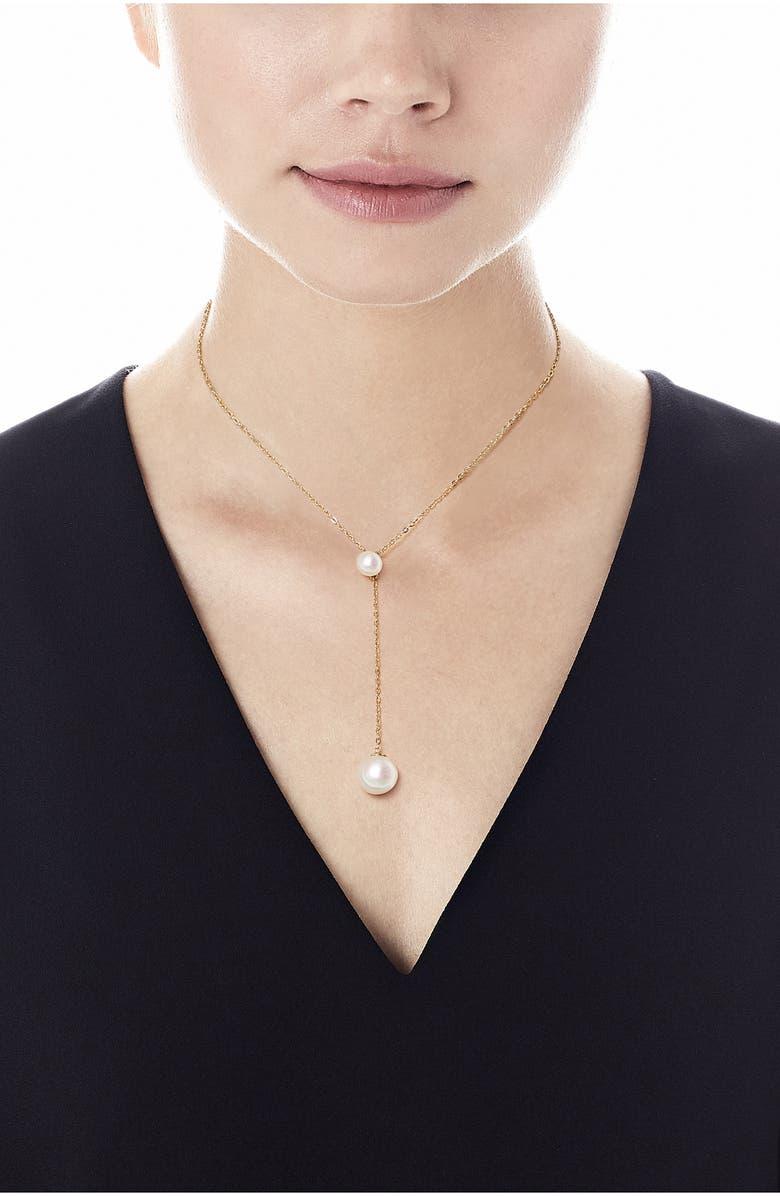 MAJORICA Simulated Pearl Y-Necklace, Main, color, 710
