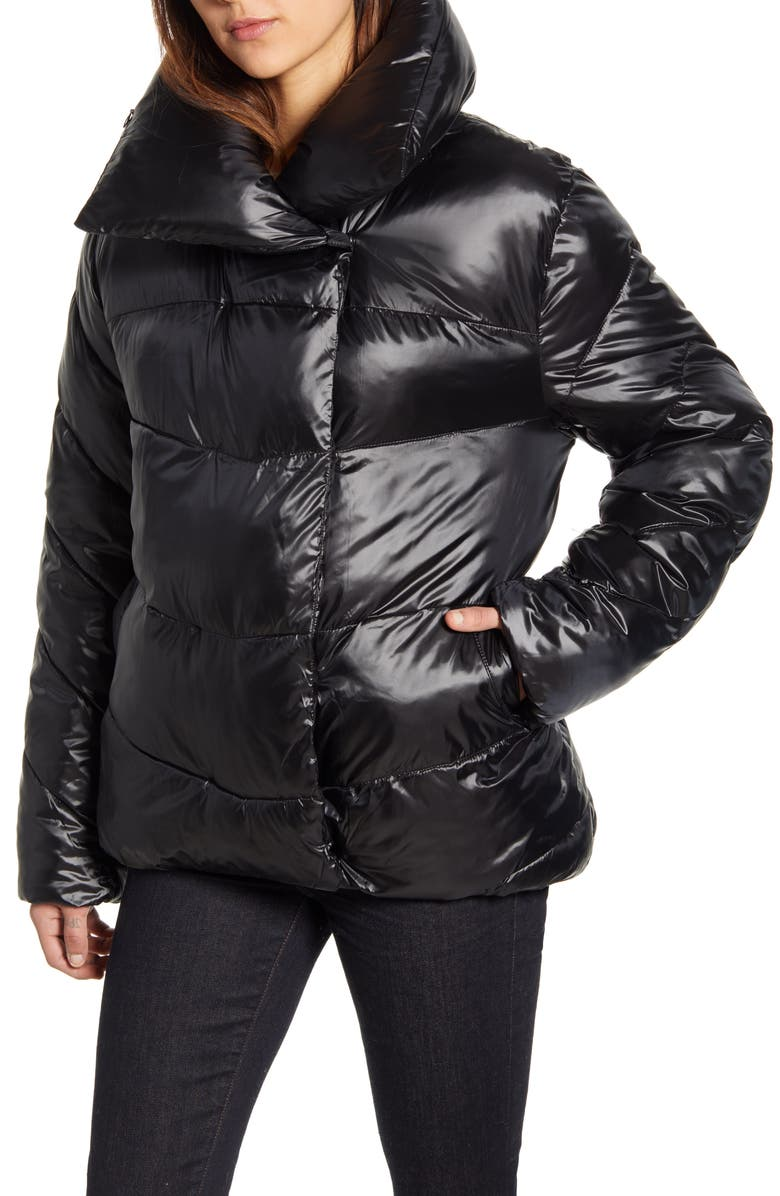 RACHEL PARCELL Puffer Jacket, Main, color, BLACK