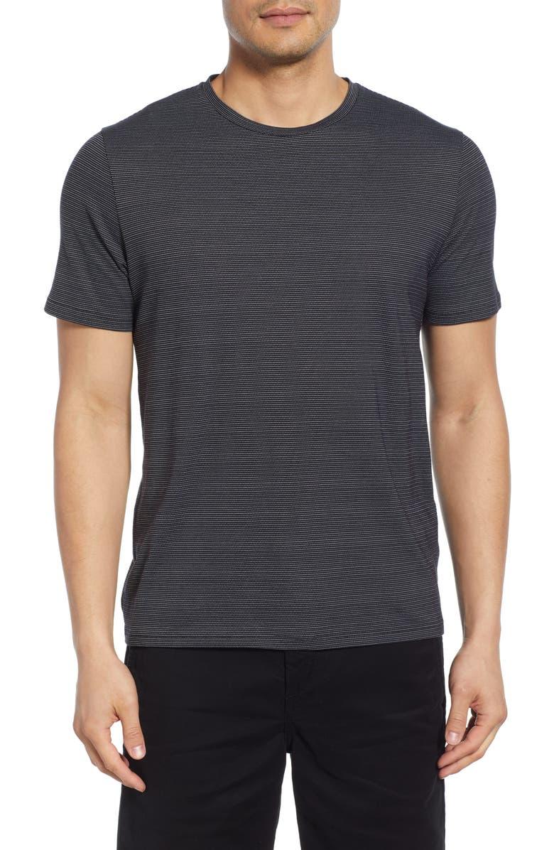 THEORY Clean Gamma Microdot T-Shirt, Main, color, BLACK/ WHITE