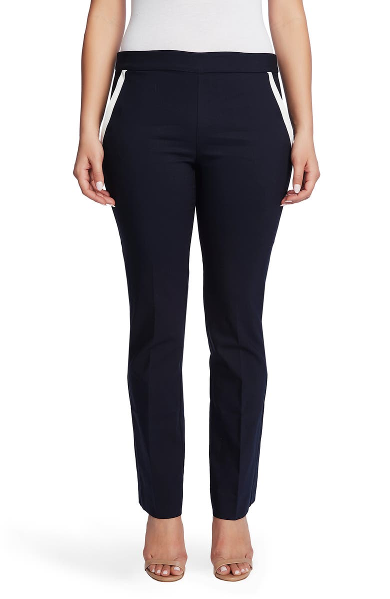 CHAUS Contrast Pocket Pull-On Cotton Blend Pants, Main, color, EVENING NAVY
