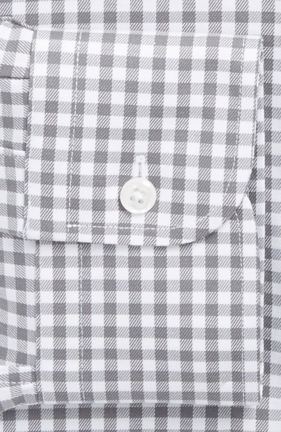 ,                             Traditional Fit Non-Iron Gingham Dress Shirt,                             Alternate thumbnail 8, color,                             030