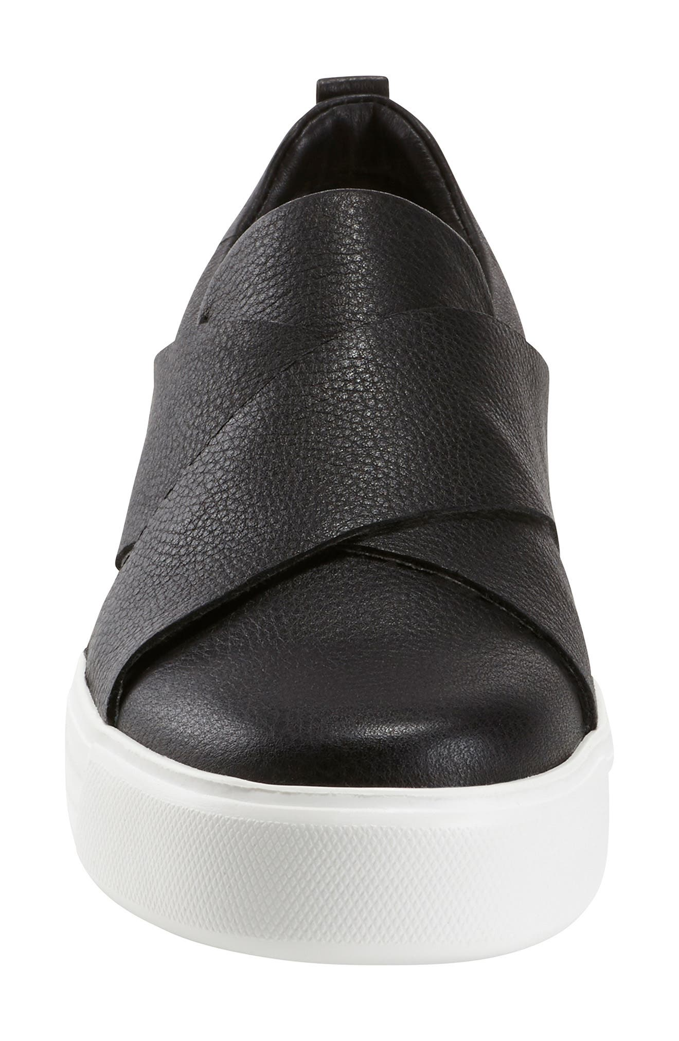 ,                             Clary Sneaker,                             Alternate thumbnail 4, color,                             BLACK LEATHER