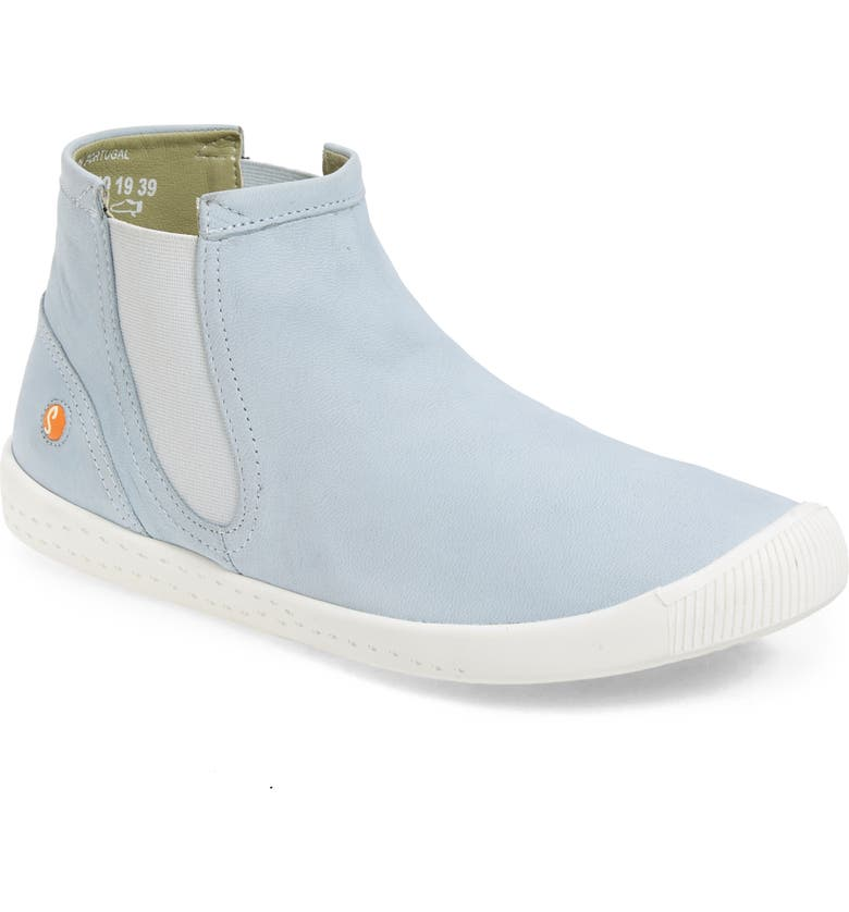 SOFTINOS BY FLY LONDON Ici Sneaker, Main, color, BABY BLUE CUPIDO LEATHER
