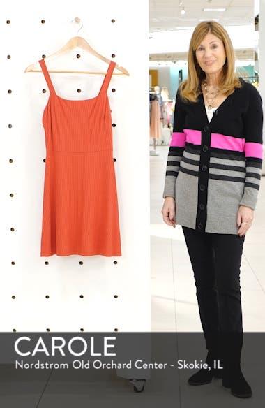 Stripe Rib Fit & Flare Minidress, sales video thumbnail