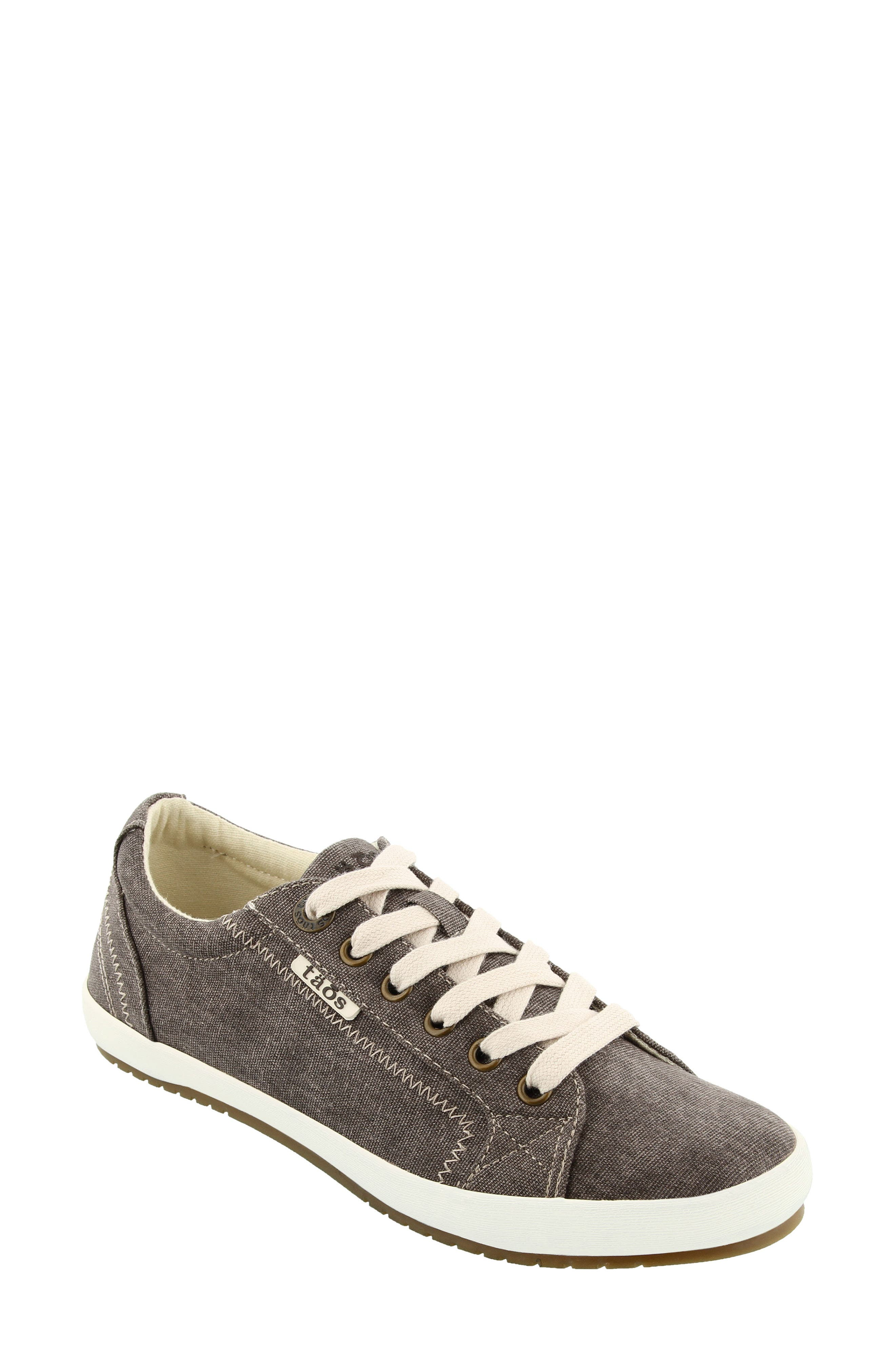 Taos 'star' Sneaker In Chocolate Washed Canvas