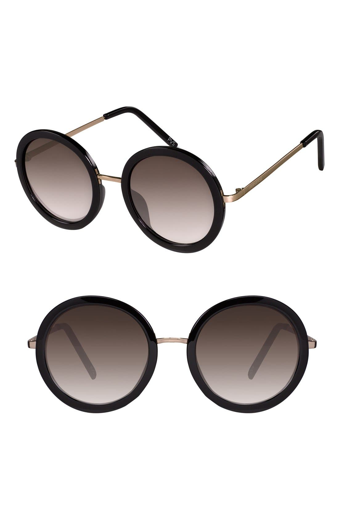 'Catalina' 52mm Round Sunglasses, Main, color, 001