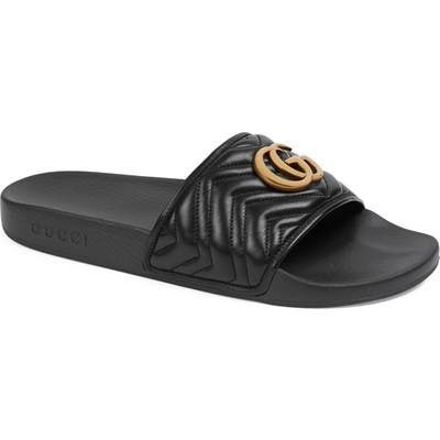 Gucci Quilted Slide Sandal, 5US / 14UK - Black