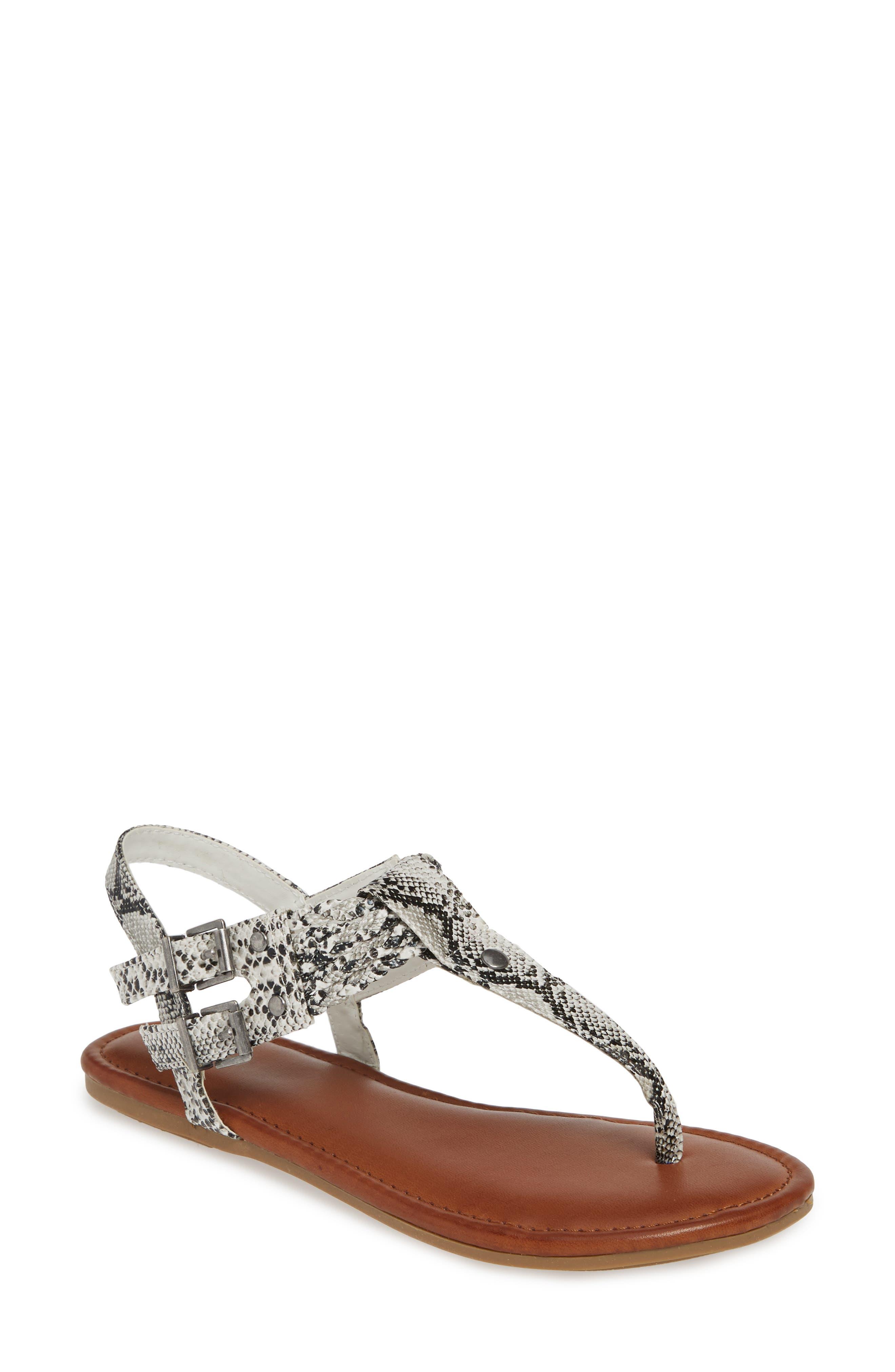 Mia Martha Double Buckle Sandal- White
