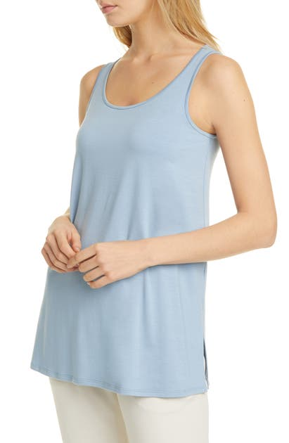 Eileen Fisher Tops SCOOP NECK LONG TANK