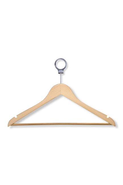 Image of Honey-Can-Do Wood Suit Hotel Hangers - Pack of 24