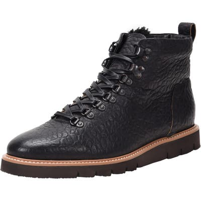 Ross & Snow Stefano Hiking Boot With Genuine Shearling Insole, Black
