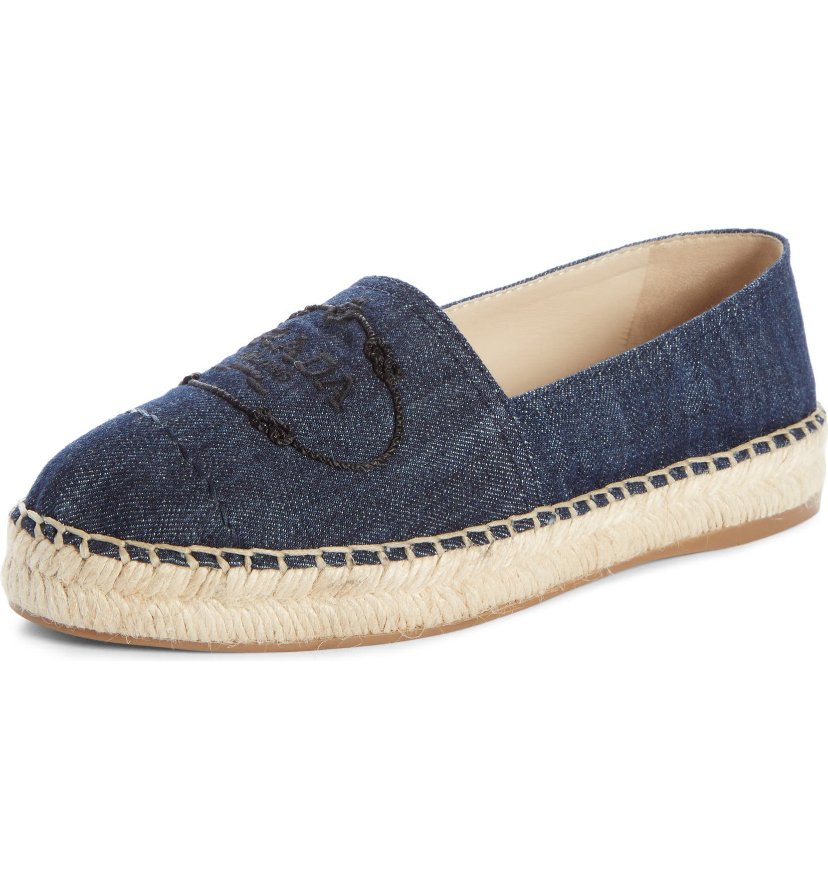 Logo Logo Espadrille, Main, color, BLUE DENIM