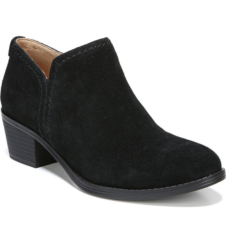 NATURALIZER 'Zarie' Block Heel Bootie, Main, color, BLACK SUEDE