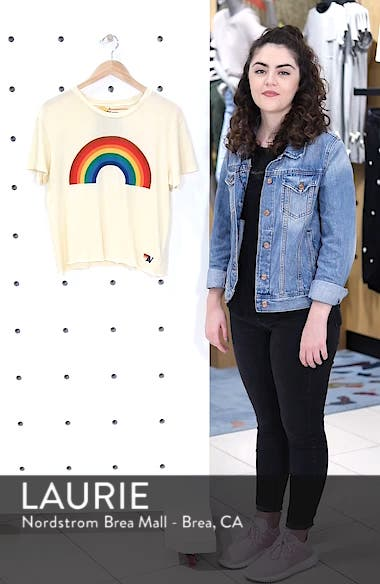 Big Rainbow Boyfriend Tee, sales video thumbnail
