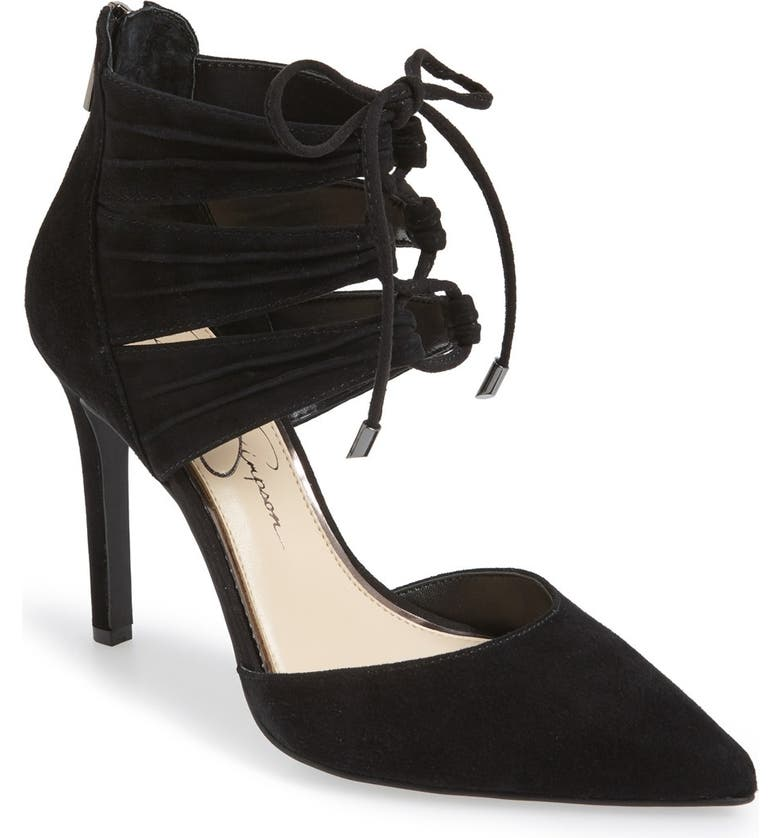 JESSICA SIMPSON 'Caleya' Lace Up Pump, Main, color, 001