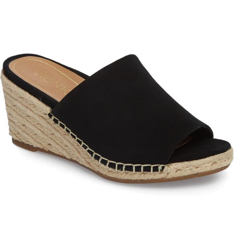 VIONIC Kadyn Espadrille Wedge Sandal, Main, color, 001