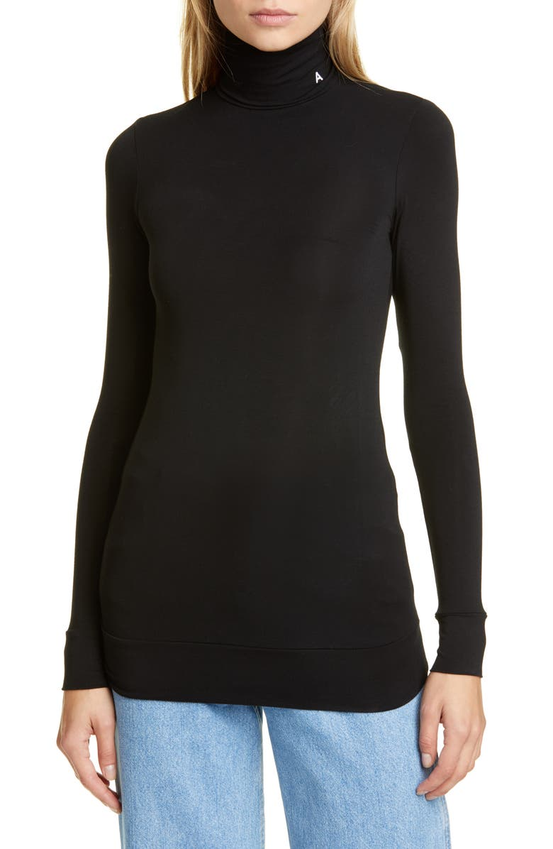 AMBUSH Turtleneck Sweater, Main, color, BLACK