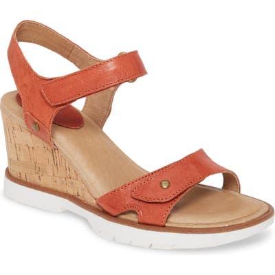 Sofft Cyndy Wedge Sandal, Orange