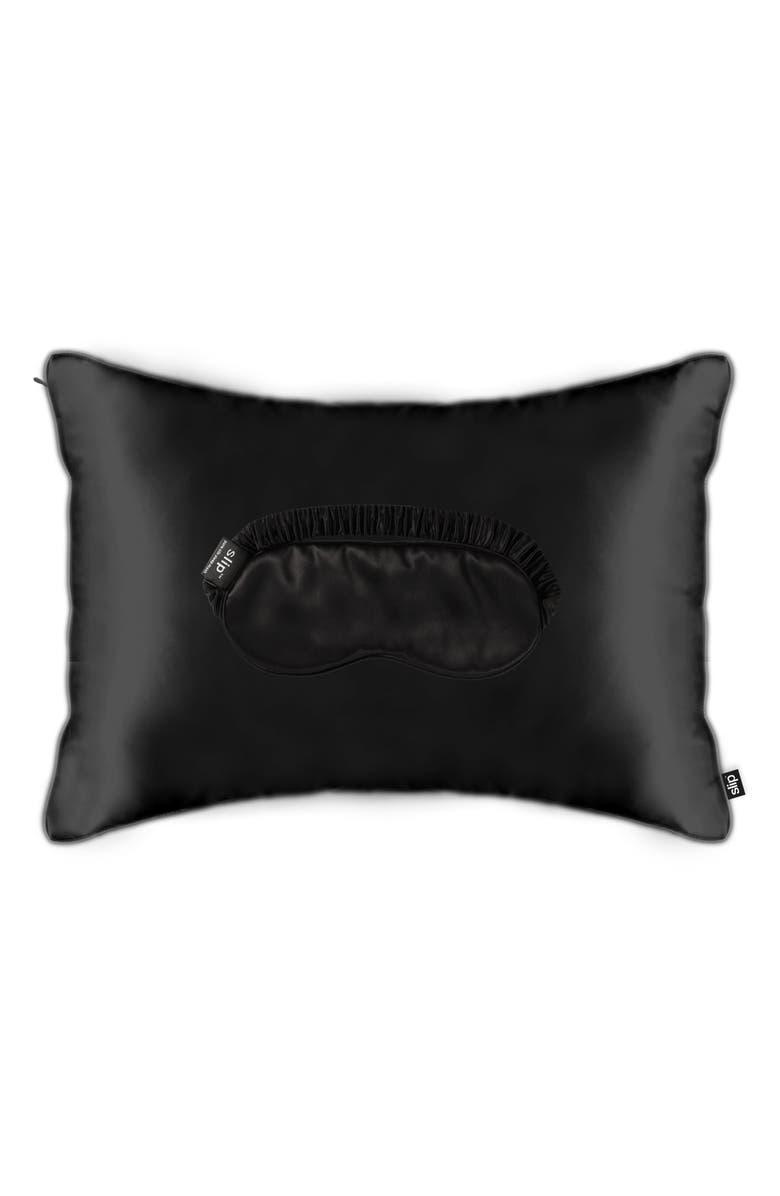 SLIP Pure Silk Sleep on the Go Travel Set, Main, color, BLACK