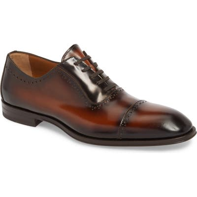 Bruno Magli Lucca Cap Toe Oxford- Brown