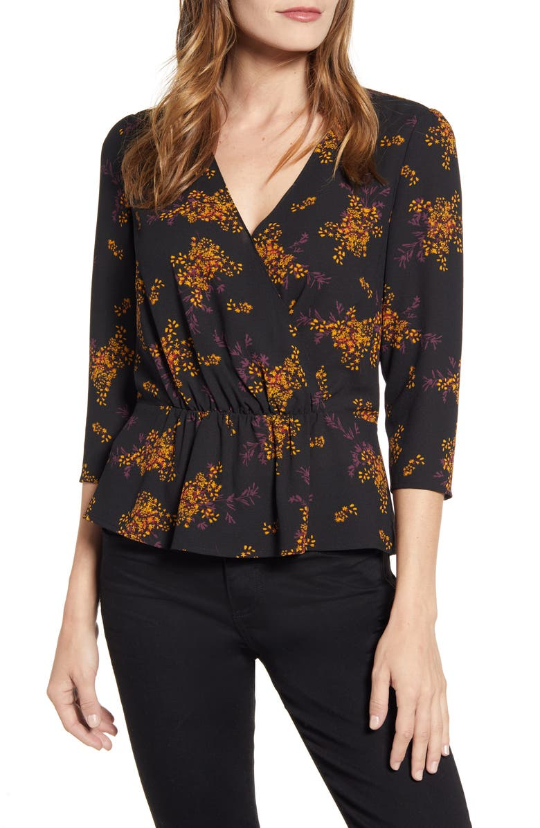 1.STATE Wild Country Blooms Peplum Blouse, Main, color, 006