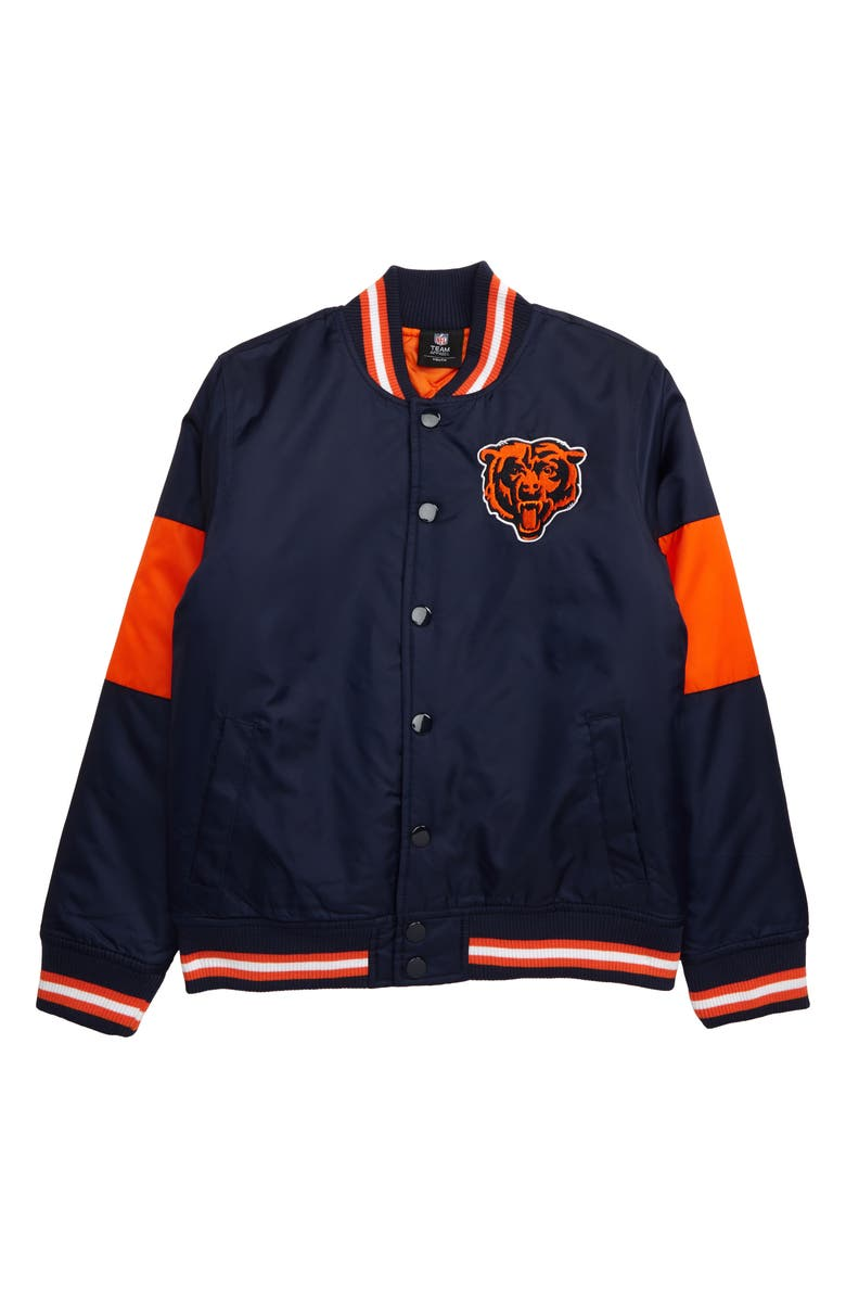 OUTERSTUFF NFL Logo Chicago Bears Throwback Varsity Jacket, Main, color, MARINE