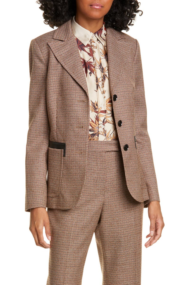 JUDITH & CHARLES Matera Wool Suit Jacket, Main, color, CAMEL