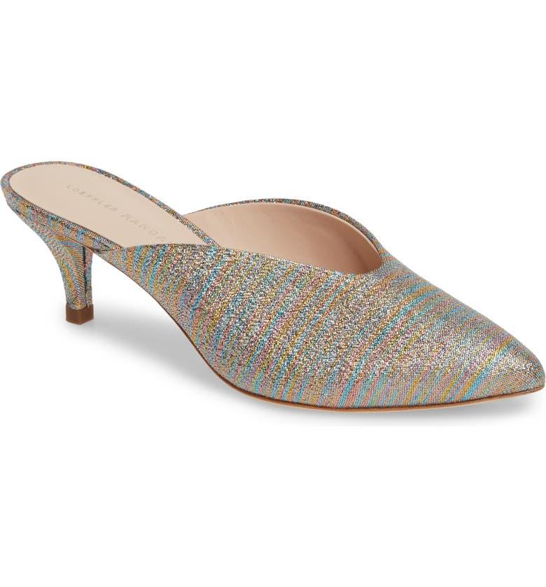 302925f785 Loeffler Randall Juno Glitter Rainbow Stripe Mule (Women)   Nordstrom