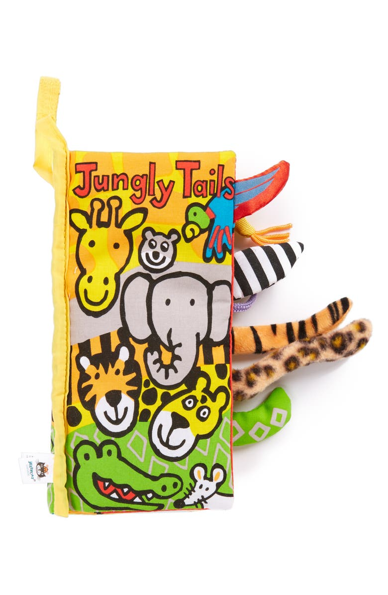 JELLYCAT Jungly Tails Cloth Book, Main, color, MULTI