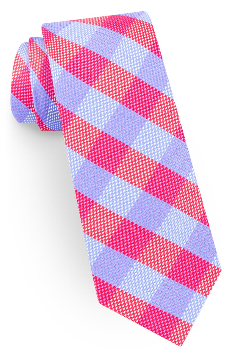 TED BAKER LONDON Plaid Silk Tie, Main, color, RED