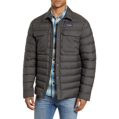 Patagonia Silent Water Repellent 700-Fill Power Down Shirt Jacket, Grey