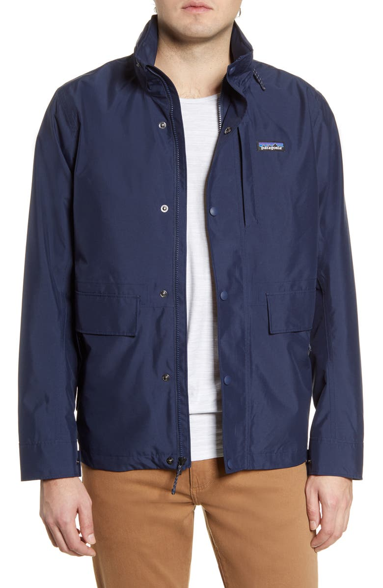 PATAGONIA Light Storm Water Repellent Jacket, Main, color, NEW NAVY