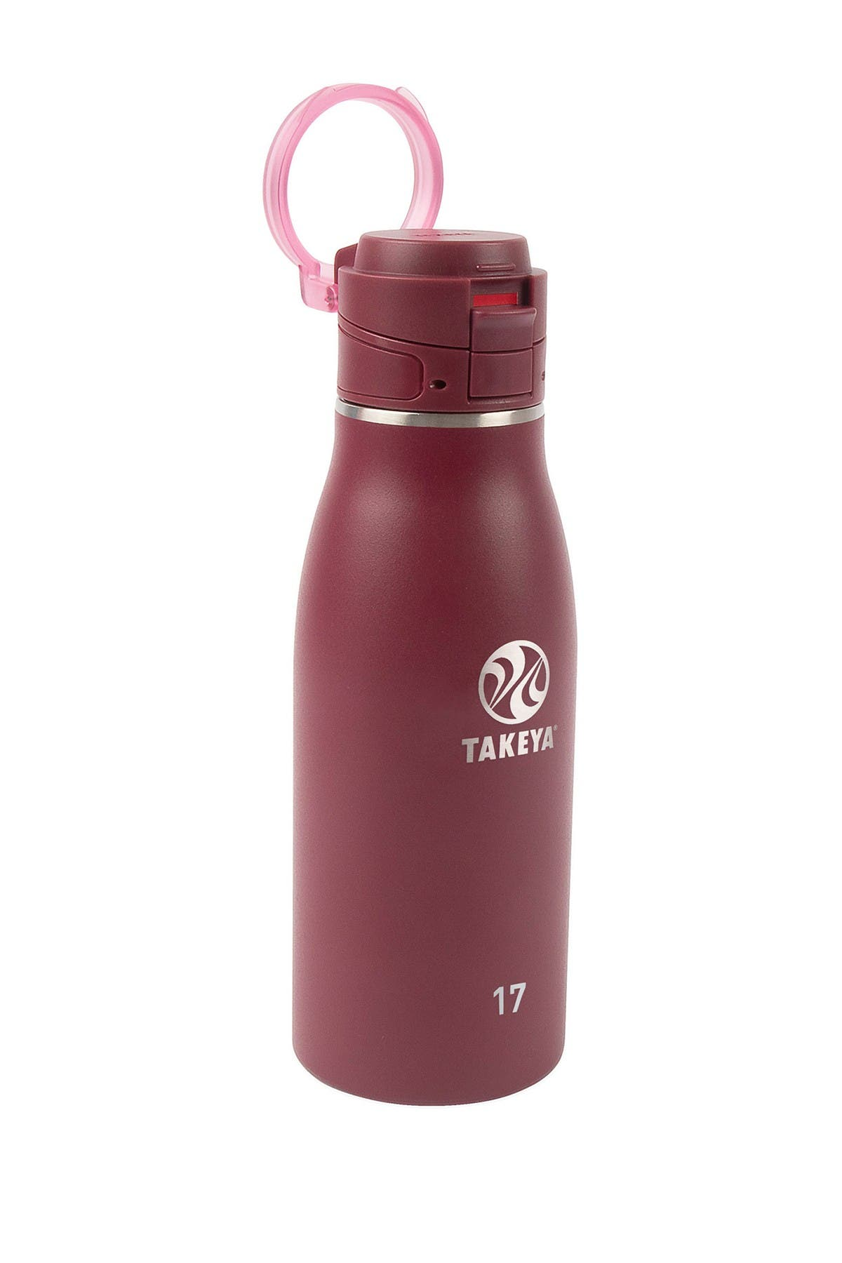 Image of Takeya Traveler 17oz FlipLock Bottle - Merlot