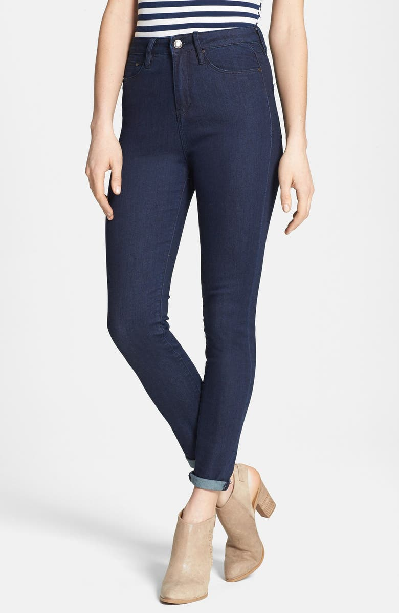THIS CITY High Waist Skinny Jeans, Main, color, 401