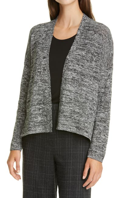 Image of Eileen Fisher Boxy Linen Blend Cardigan