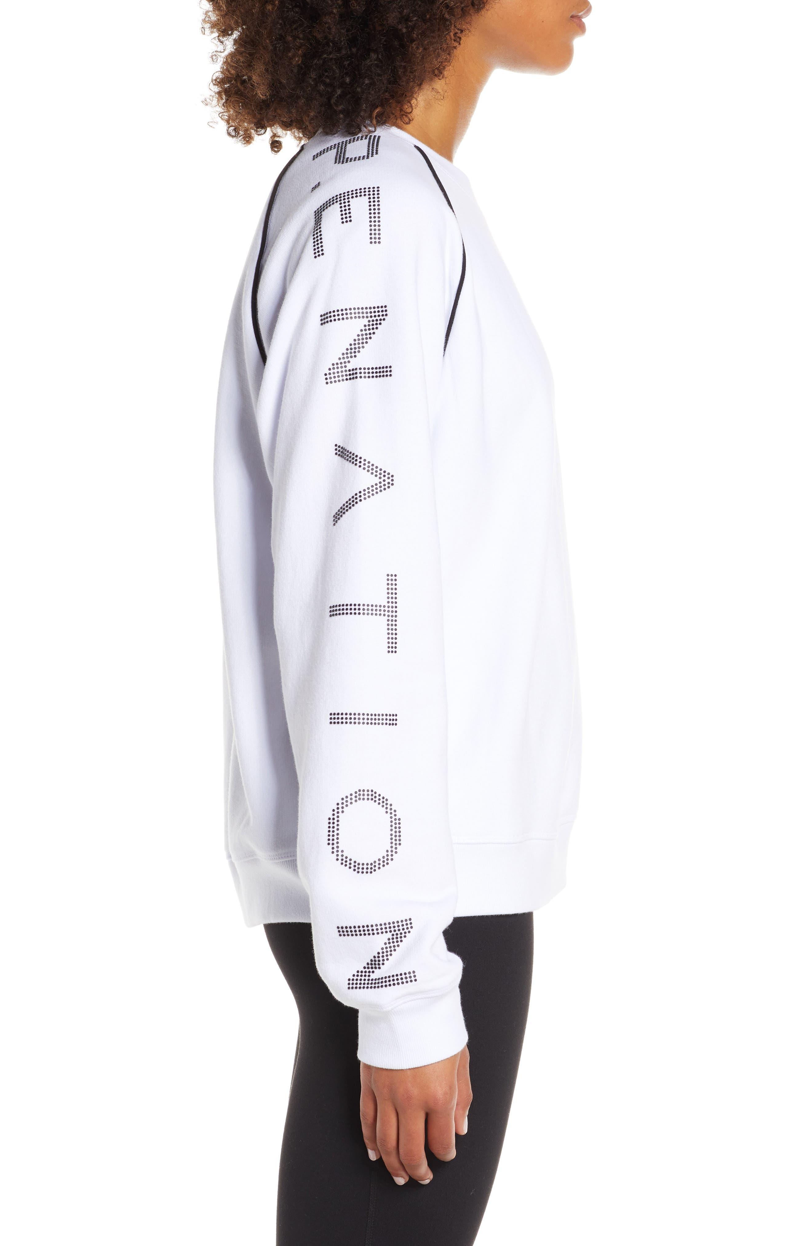,                             Highline Sweatshirt,                             Alternate thumbnail 4, color,                             WHITE/ BLACK