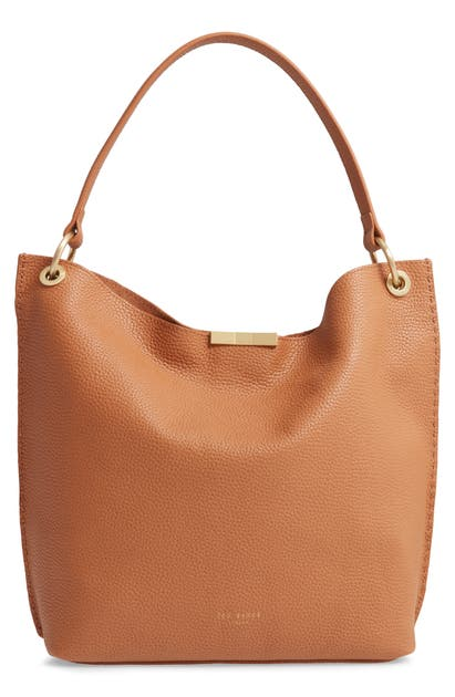 Ted Baker CANDIEE BOW LEATHER HOBO - BROWN