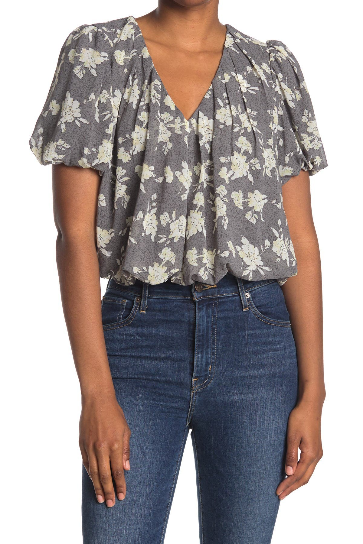 Image of ASTR the Label Bubble Hem Short Sleeve Top