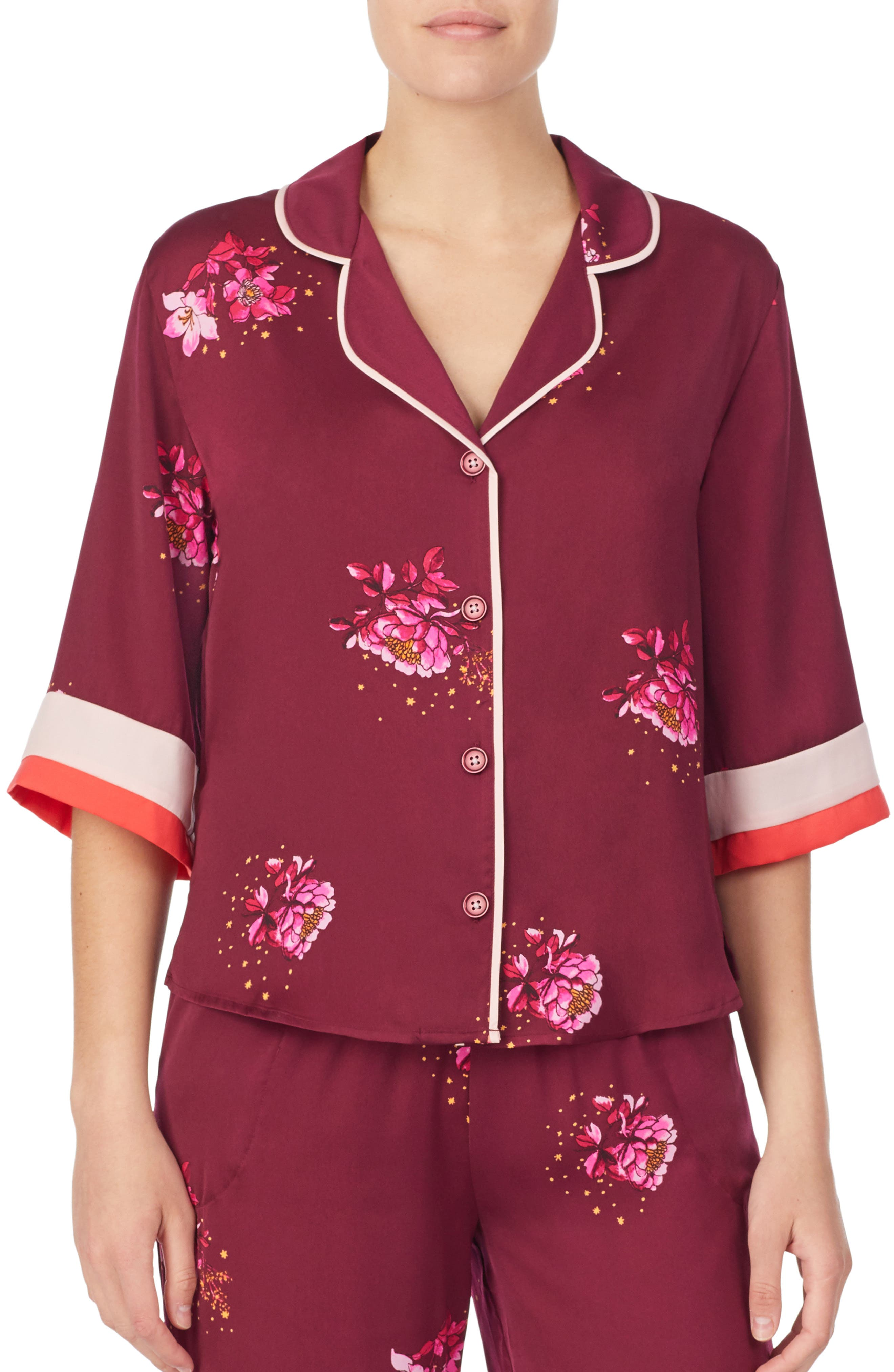 Room Service Pajama Top, Burgundy (Nordstrom Exclusive)