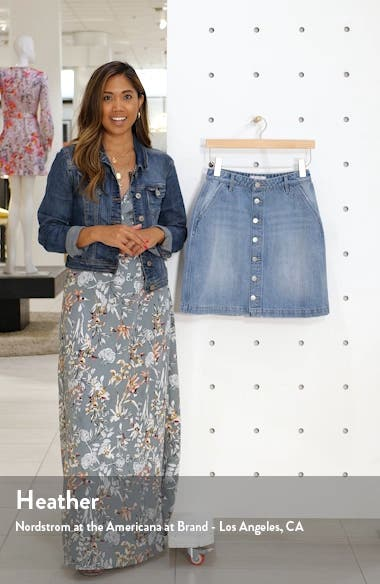 Button Front Denim Skirt, sales video thumbnail